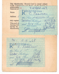 Receipts for CVRS membership 1968 and 1969