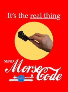 It's the real thing! Morse Code
