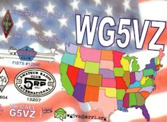 Thumbnail image of WG5VZ QSL card