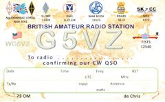 Thumbnail image of G5VZ QSL card