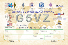 Thumbnail image of G5VZ QSL from 2021